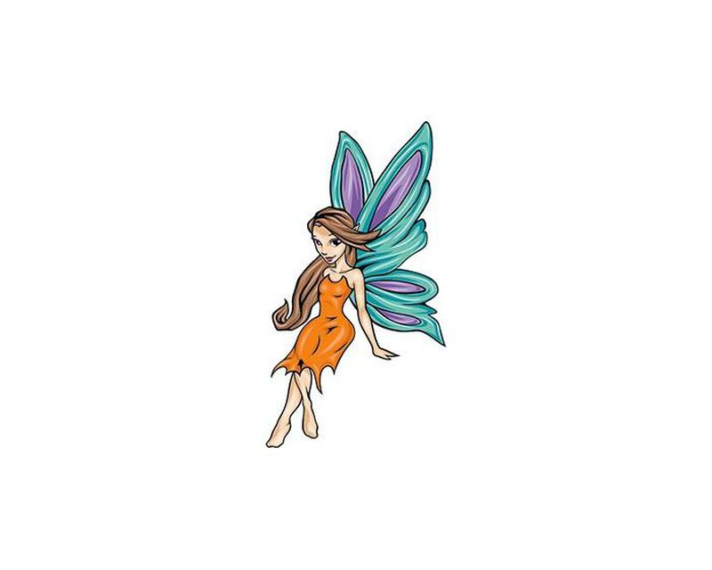Mythical Cartoon Fairy Temporary Tattoo image number null