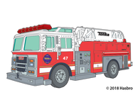 Tonka Fire Truck Temporary Tattoo