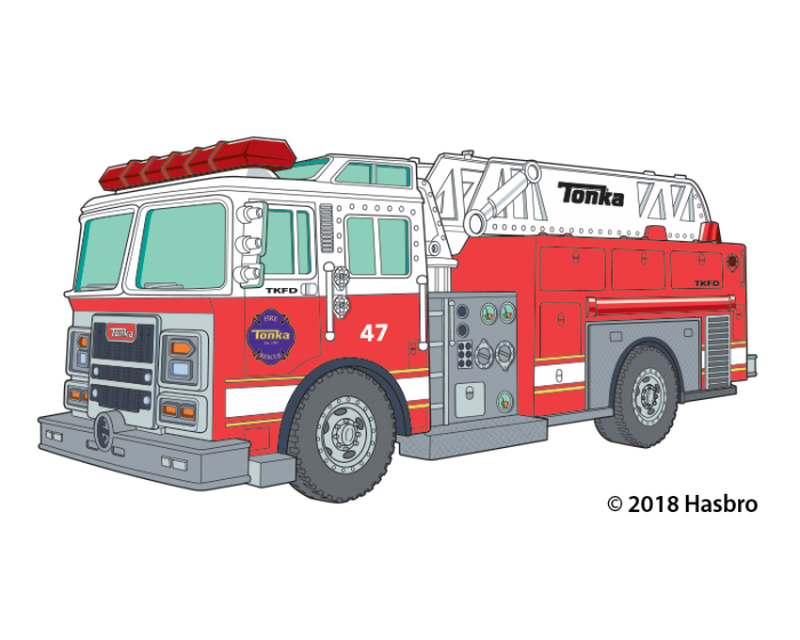 Tonka Fire Truck Temporary Tattoo image number null