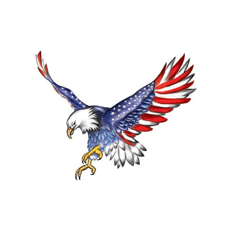American Flag Eagle Temporary Tattoo image number null