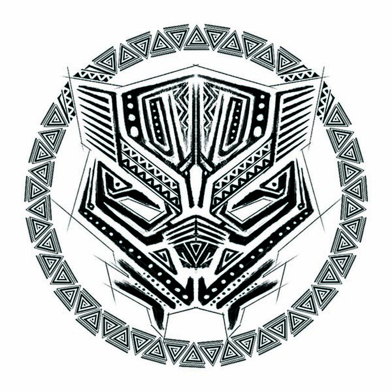 Avengers Black Panther Tribal Logo image number null
