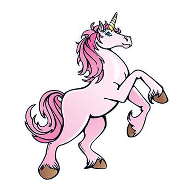 Pink Unicorn Temporary Tattoo image number null