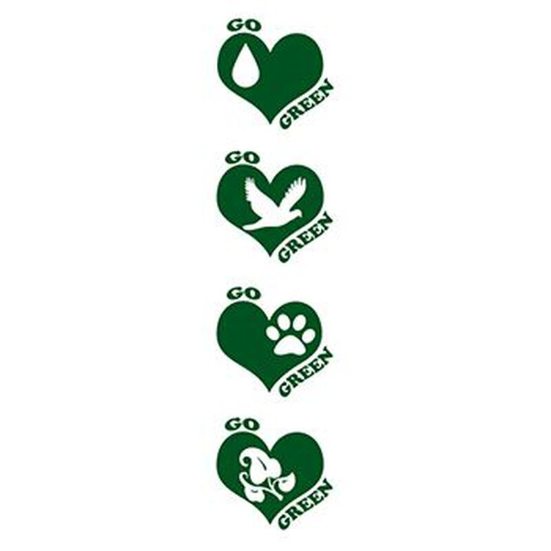 Go Green Temporary Tattoo Set image number null