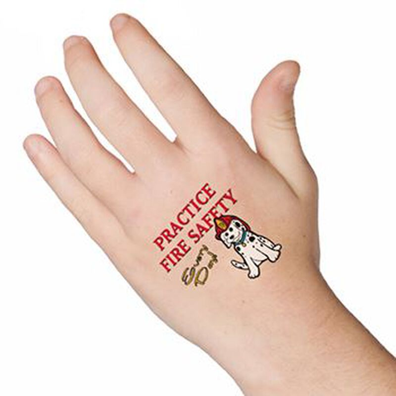 Fire Safety Every Day Temporary Tattoo image number null