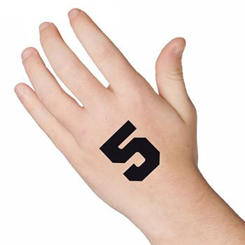 Number 5 Temporary Tattoo image number null