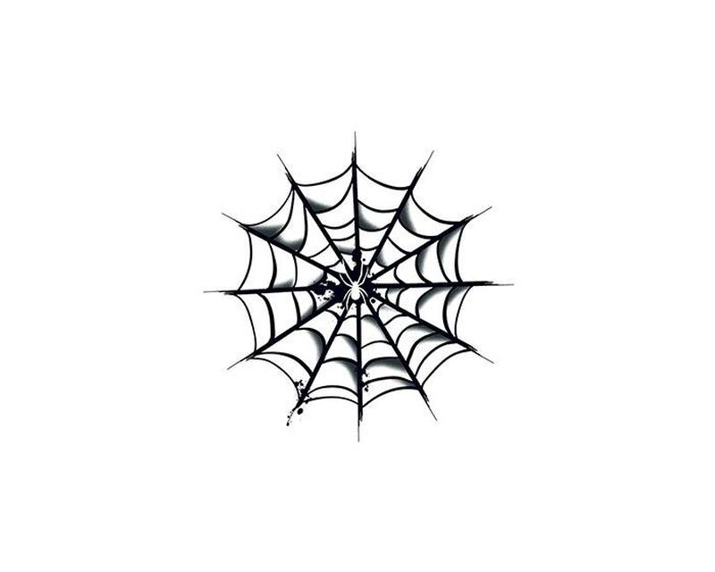 Spider Web Temporary Tattoo image number null