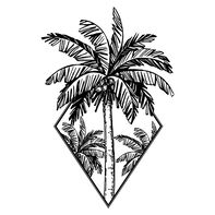 Diamond Palm Tree Temporary Tattoo