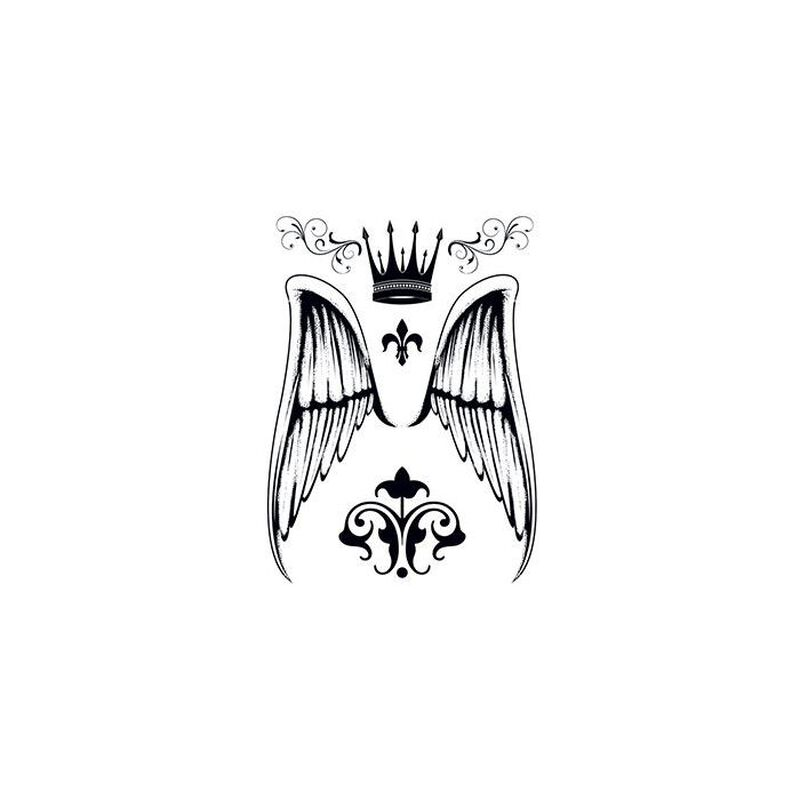 Angel Wings Temporary Tattoo image number null