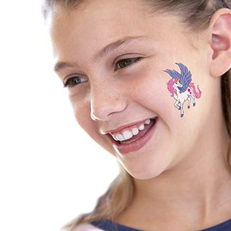 White Unicorn Temporary Tattoo image number null