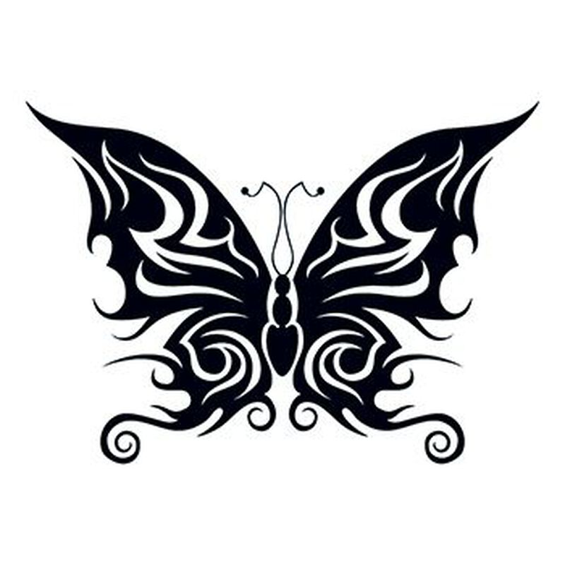 Tribal Bold Butterfly Temporary Tattoo image number null