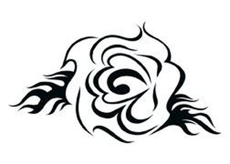 Tribal Rose Temporary Tattoo image number null