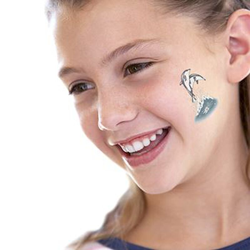 Leaping Dolphins Temporary Tattoo image number null