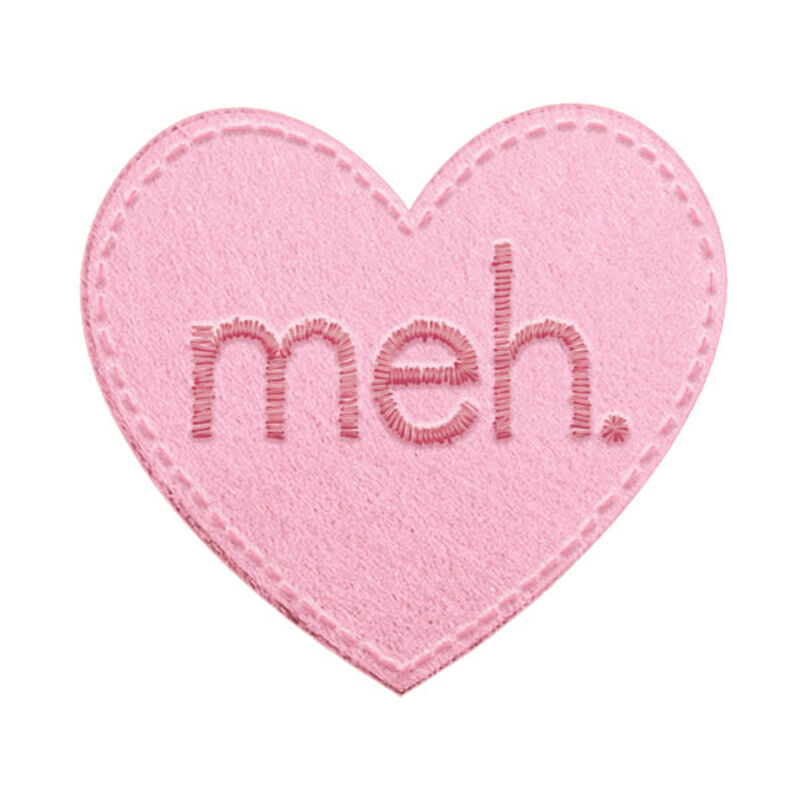 Anti-Valentine's Day Meh Heart Temporary Tattoo image number null