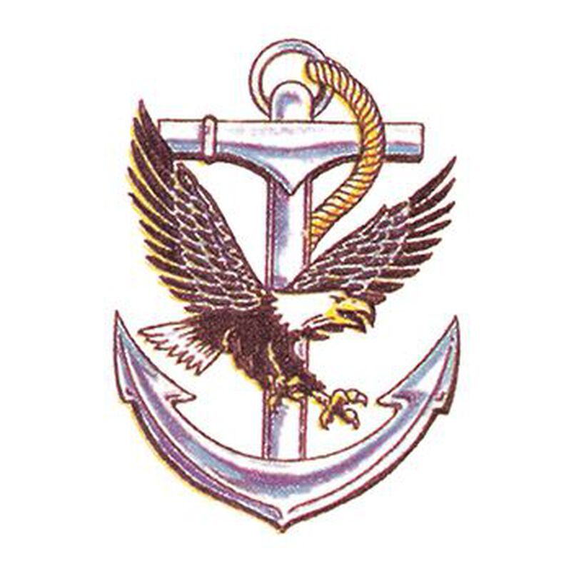 Eagle and Anchor Temporary Tattoo image number null