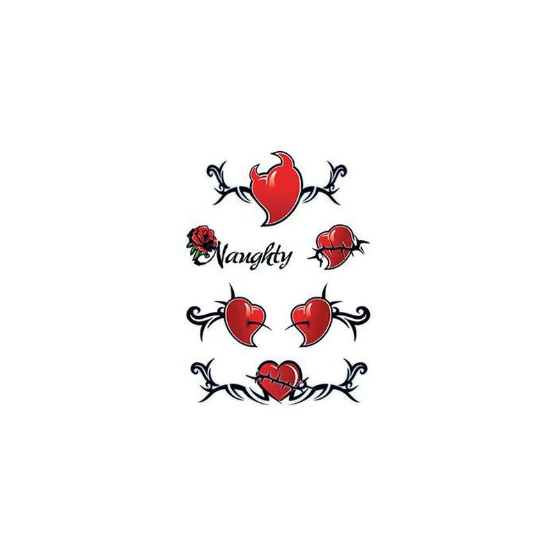 Devil Hearts Temporary Tattoo image number null
