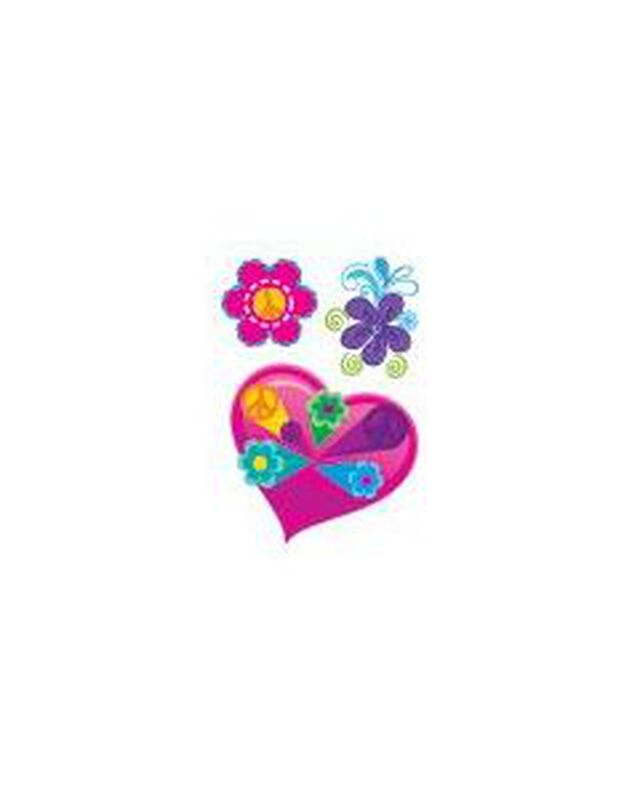 Heart and Flowers Temporary Tattoo image number null
