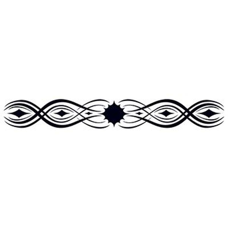Glow in the Dark Tribal Band Temporary Tattoo image number null