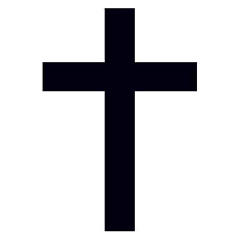 Black Cross Temporary Tattoo image number null