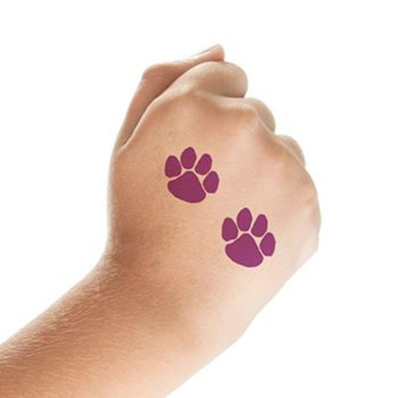 Two Purple Paws Temporary Tattoo image number null