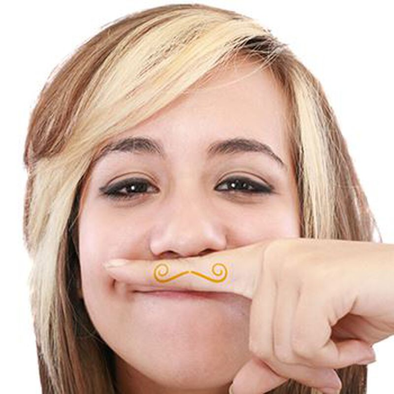 Fingerstaches: The Cookie Duster Temporary Tattoo Set image number null