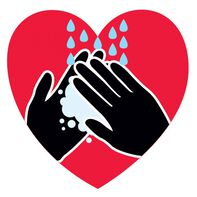 Heart Wash Your Hands Temporary Tattoo
