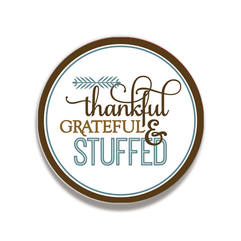 Thankful Grateful & Stuffed Coaster Gift Box image number null