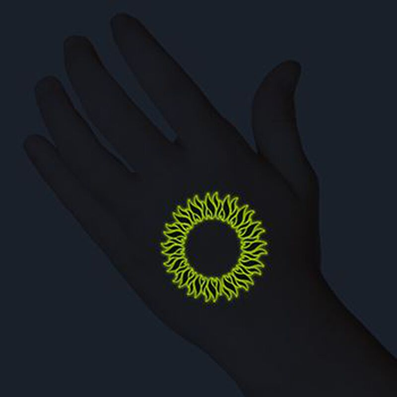 Glow in the Dark Tribal Circle Temporary Tattoo image number null