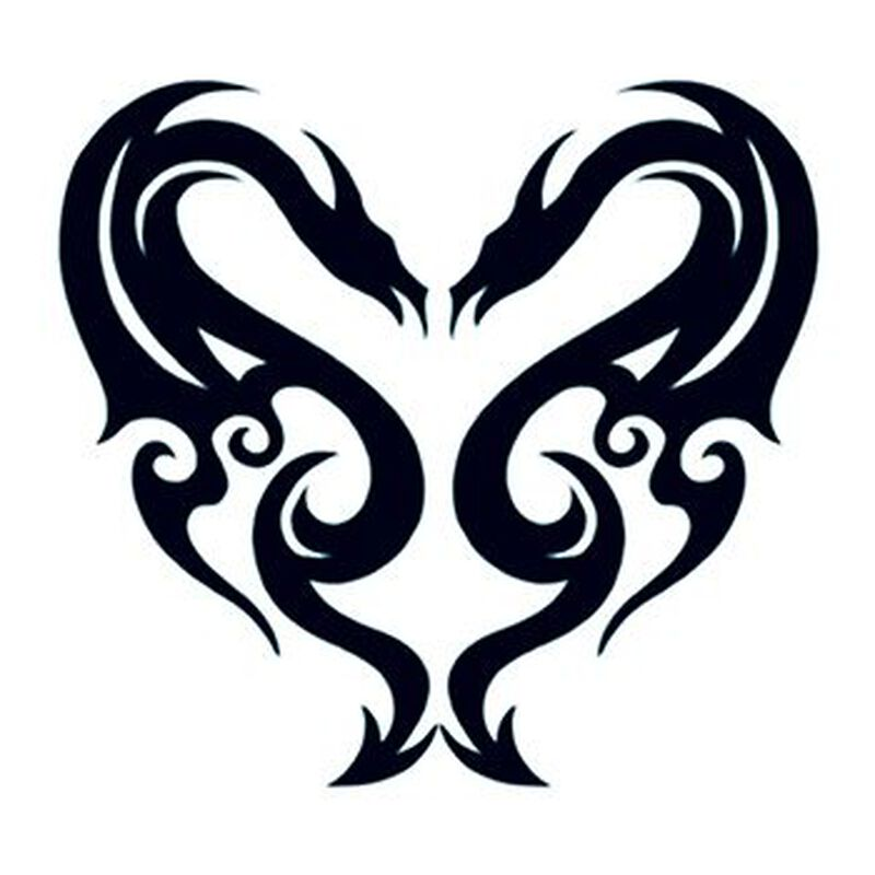 Tribal Dragons Temporary Tattoo image number null