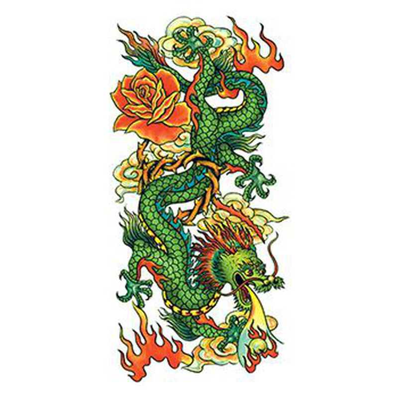 Glitter Chinese Dragon Temporary Tattoo image number null