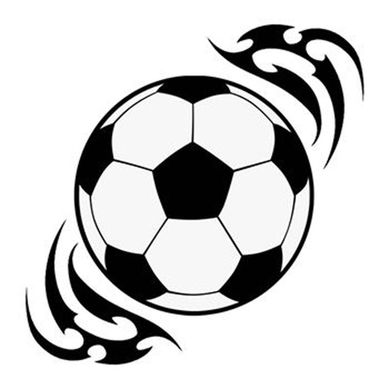 Tribal Soccer Ball Temporary Tattoo image number null