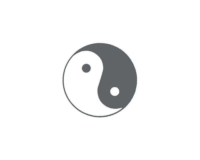 Yin Yang Temporary Tattoo image number null