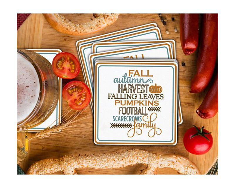 Autumn List Coaster Gift Box image number null