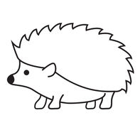 Hedgehog Temporary Tattoo