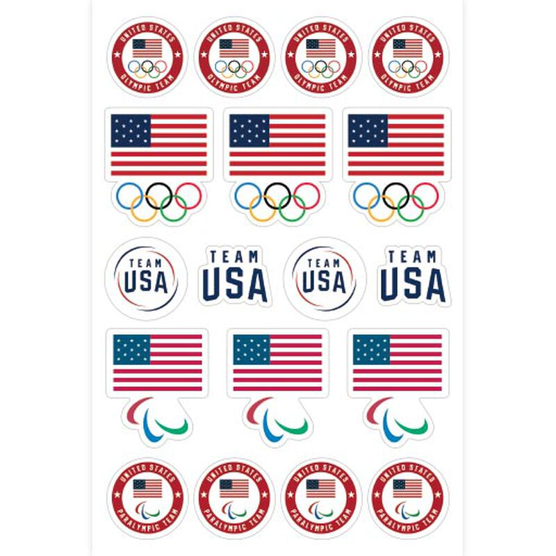 team usa olympics and paralympics sticker sheet image number null