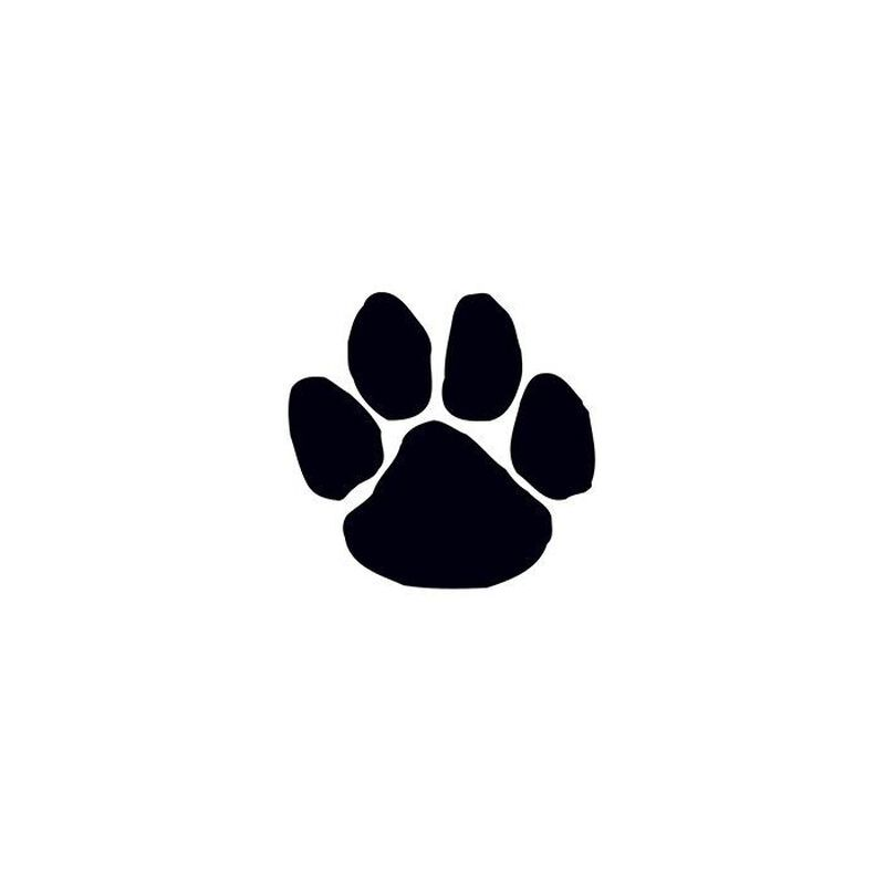 Black Paw Print Temporary Tattoo image number null
