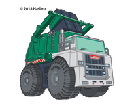 Tonka Garbage Truck Temporary Tattoo