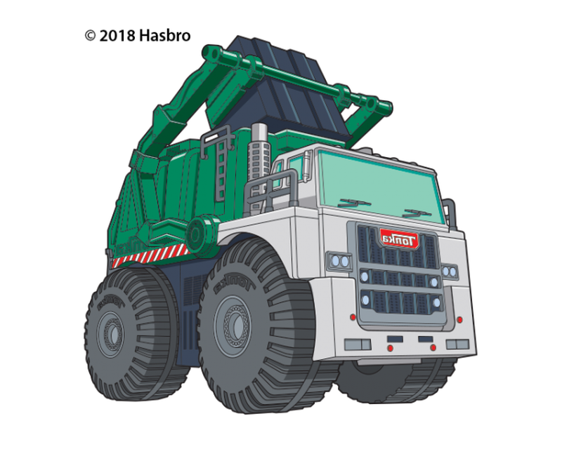 Tonka Garbage Truck Temporary Tattoo image number null