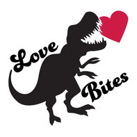 Anti-Valentine's Day Love Bites Dino Temporary Tattoo