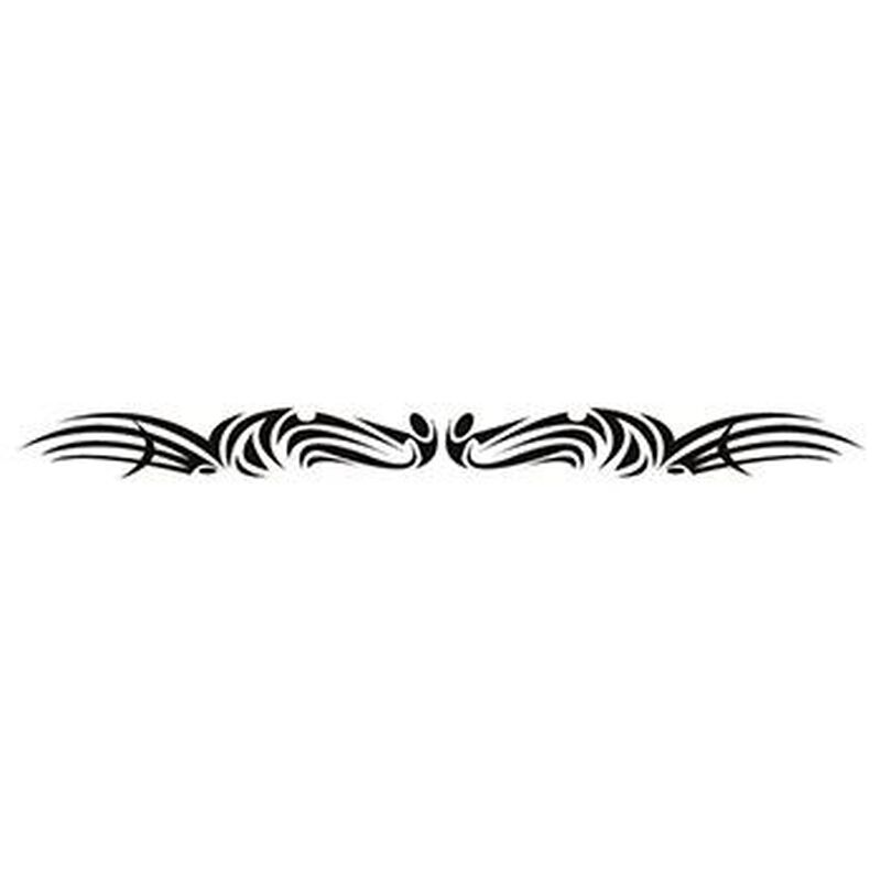 Glow in the Dark Tribal Pattern Temporary Tattoo Band image number null