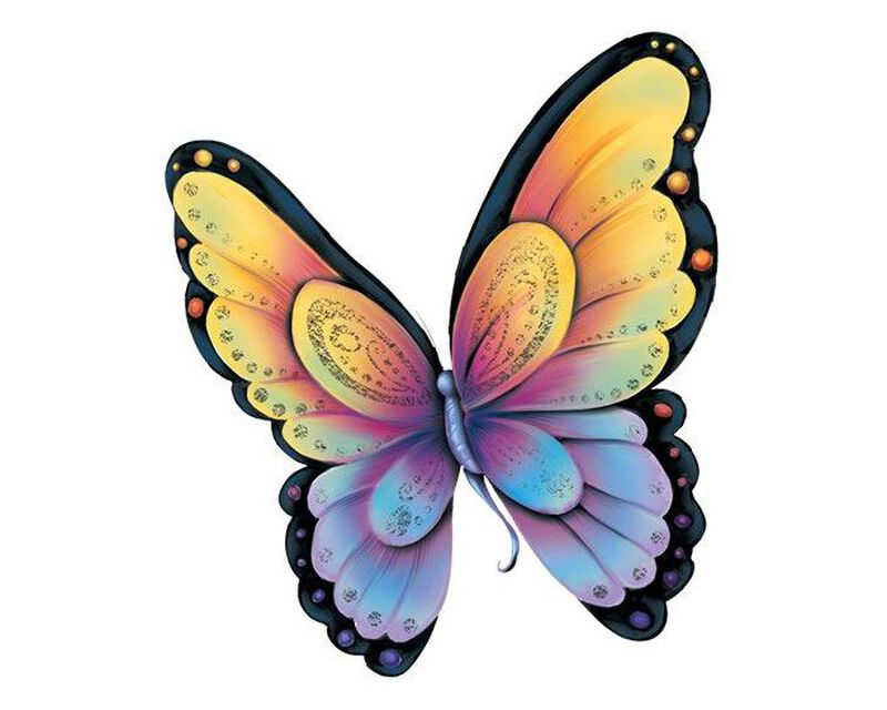 Shimmer Butterfly Metallic Temporary Tattoo image number null
