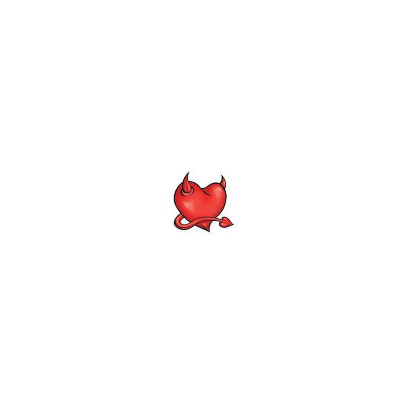 Devil Horned Heart Temporary Tattoo image number null