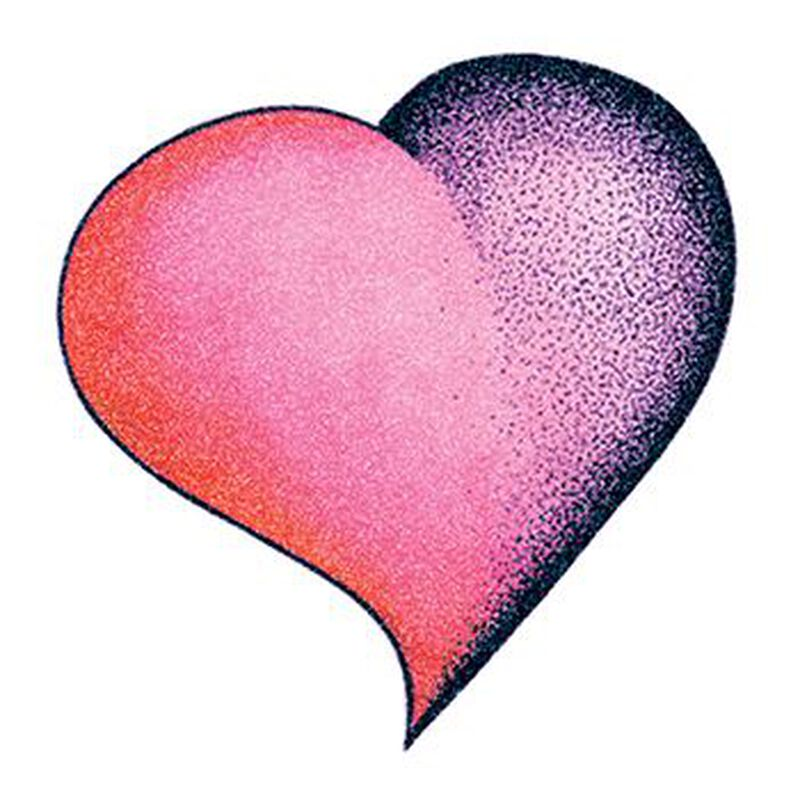 Glitter Purple and Pink Heart Temporary Tattoo image number null