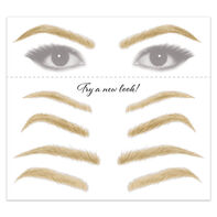 Women's Blonde Eyebrow Temporary Tattoos