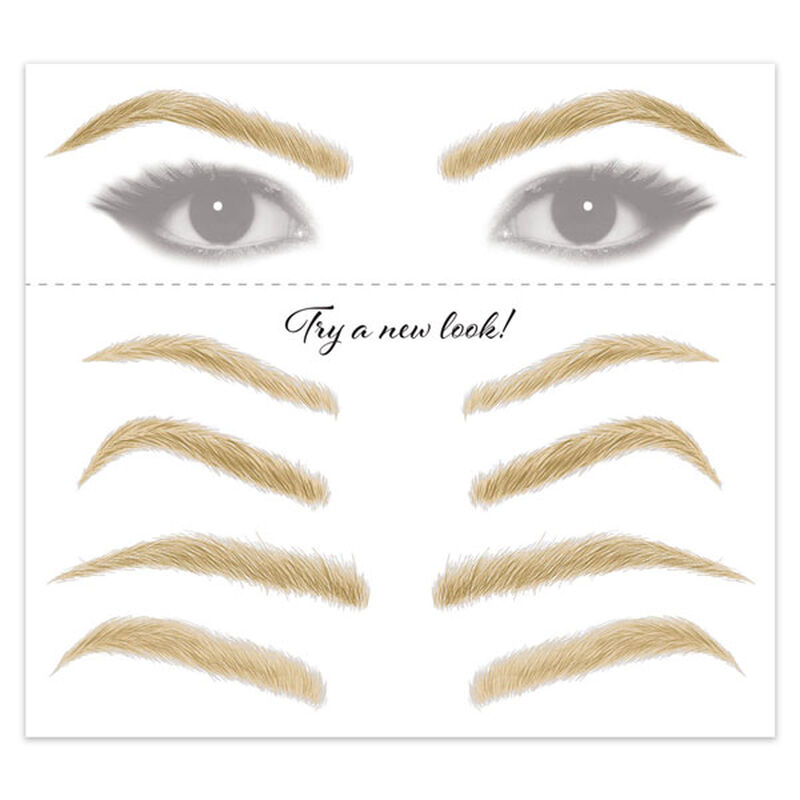 Women's Blonde Eyebrow Temporary Tattoos image number null