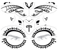 Day of the Dead Male Face Temporary Tattoo