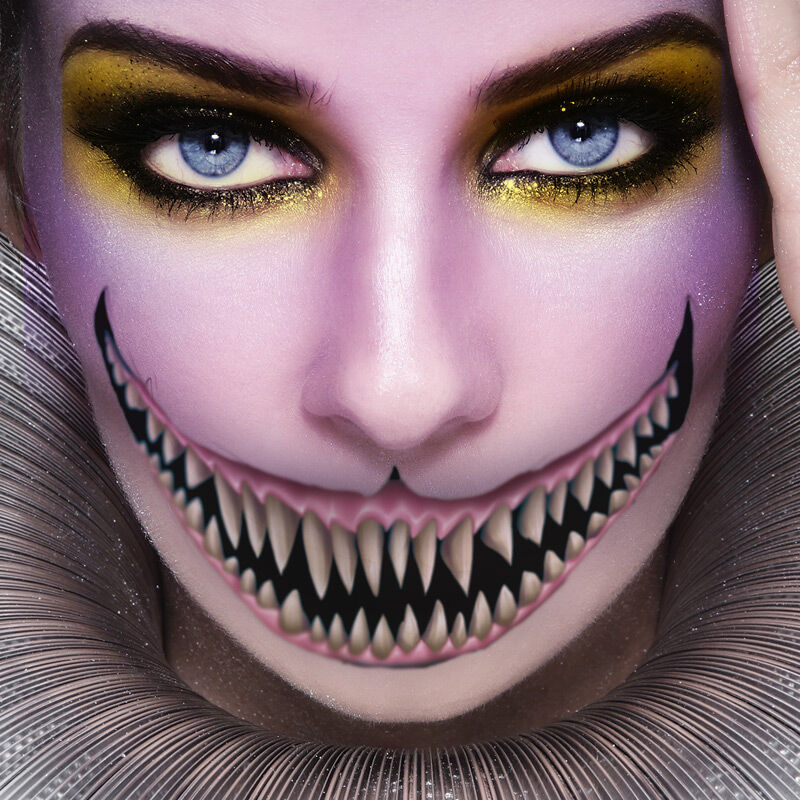 Scary Smile Big Mouth Costume Tattoo image number null