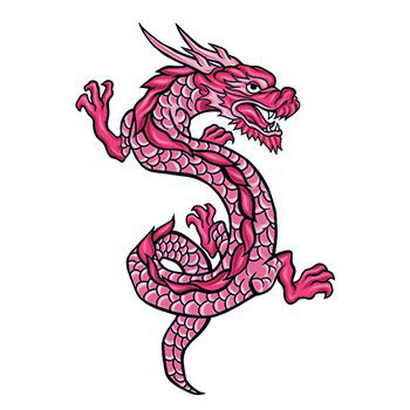 Mythical Red Dragon Temporary Tattoo image number null