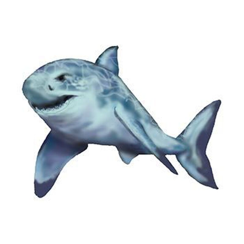 Swimming Shark Temporary Tattoo image number null