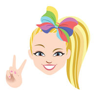 JoJo Siwa Peace Sign Temporary Tattoo
