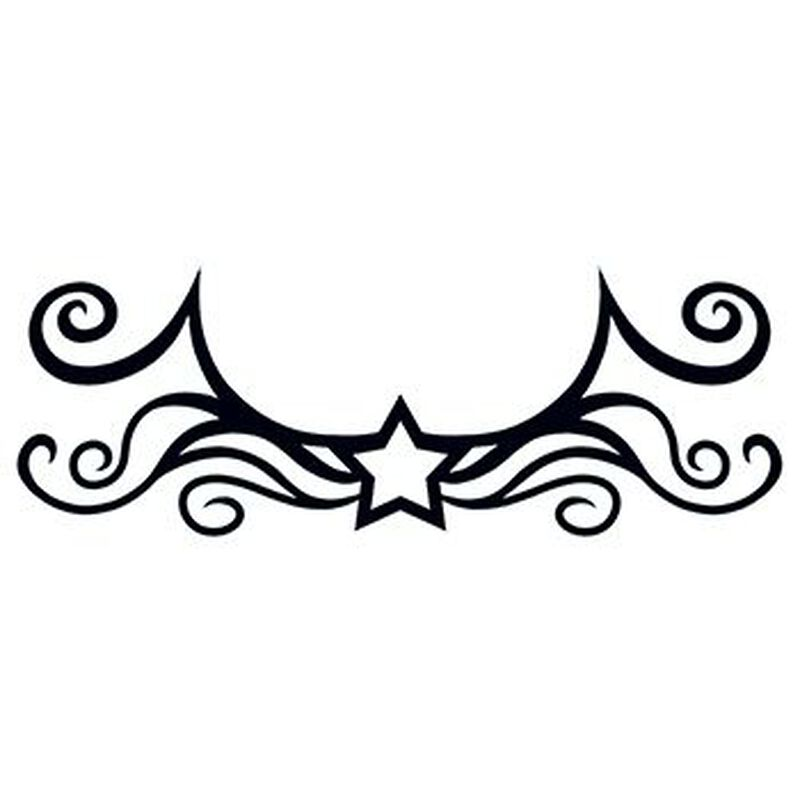 Tribal Star Lower Back Temporary Tattoo image number null
